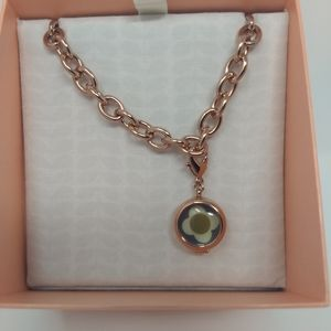 NEW Orla Kiely Camille Reversible Locket Bracelet
